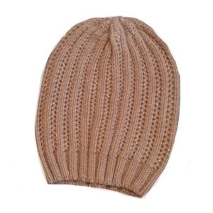 Beanie knitted shimmer hat